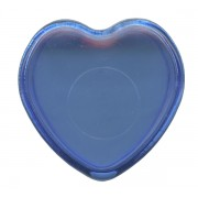 "Heart Shaped Rosary Box Blue cm.4x4 - 1 1/2""x 1 1/2"""