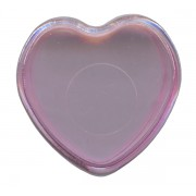 "Heart Shaped Rosary Box Pink cm.4x4 - 1 1/2""x 1 1/2"""