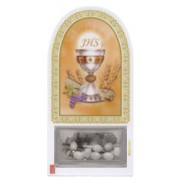 "Chalice Communion Set cm.12x6 - 4 3/4""x2 1/4"" with Rosary White 5mm"