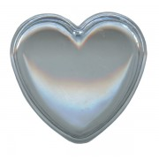 "Heart Shaped Rosary Box Clear cm.4x 4.5 - 1 1/2""x 1 3/4"""