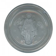 Clear Miraculous Octagon Rosary Box cm.5.4- 2 1/8""