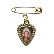 Sacred Heart of Jesus Lapel Pin mm.19 - 3/4""