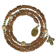 Brown Square Bead Wrap a Round Bracelet