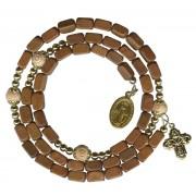 Brown Square Bead Wrap a Round Bracelet