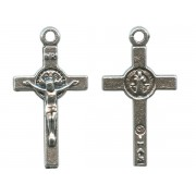 """St.Benedict Crucifix Silver Plated mm.20 - 3/4"""""""