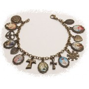 Multi-Saints Bronzed Metal Bracelet Colour Pictures