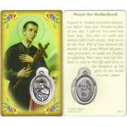 "Prayer to Motherhood Prayer Card with Medal cm.8.5 x 5 - 3 1/4"" x 2"""