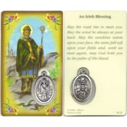 "St.Patrick/ A Irish Blessing Prayer Card with Medal cm.8.5 x 5 - 3 1/4"" x 2"""