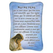 "Our Father Mini Standing Plaque French cm.7x10 - 3""x4"""