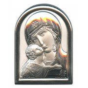 "Mother and Child Plaque with Stand Mother of Pearl Frame cm.6x4.5 - 2 1/4""x 1 3/4"""