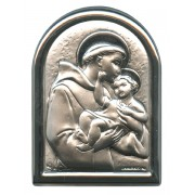"""St.Anthony Plaque with Stand Mother of Pearl Frame cm.6x4.5 - 2 1/4""""x 1 3/4"""""""