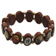Multi-Saints Wood Elastic Bracelet Classic Model Large Fit