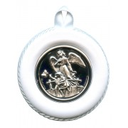 Crib Medal Guardian Angel Bridge White cm.8.5- 3 1/4""