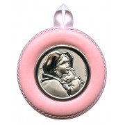 "Crib Medal Ferruzzi Pink cm.8.5- 3 1/4"""