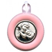Crib Medal Guardian Angel Blue cm.8.5- 3 1/4""