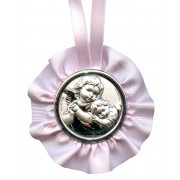 Crib Medal Guardian Angel Pink cm.9.5- 3 3/4""