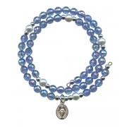 Wraparound Rosary Bracelet mm.6 Sapphire