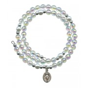 Wraparound Rosary Bracelet mm.6 Crystal