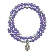 Wraparound Rosary Bracelet mm.6 Amethyst