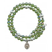 Wraparound Rosary Bracelet mm.6 Emerald