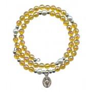 Wraparound Rosary Bracelet mm.6 Topaz