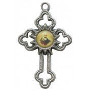 Padre Pio Oxidized Metal Cross mm.40 - 1 1/2""