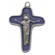 Enamelled Mother Theresa Cross Oxidized Metal mm.34 - 1 1/4""