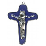Enamelled Mother Theresa Cross Oxidized Metal mm.86 - 3 1/2""