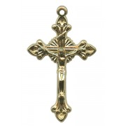 Gold Plated Metal Crucifix mm.45- 1 3/4""