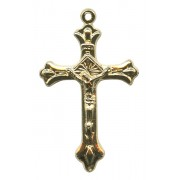Crucifix Gold Plated Metal mm.32- 1 1/4""
