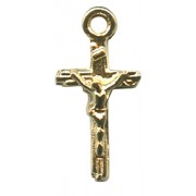 Gold Plated Metal Crucifix mm.11- 3/8""