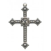 Silver Plated Metal Cross mm.40- 1 1/2""