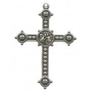Silver Plated Metal Cross mm.50- 2""