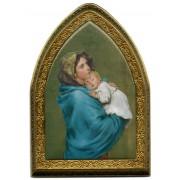 "Ferruzzi Gold Leaf Picture Frame Mini Vault cm.18.5x13.5 - 7 1/4""x5 1/4"""