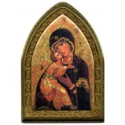 "Perpetual Help Gold Leaf Picture Frame Mini Vault cm.18.5x13.5 - 7 1/4""x5 1/4"""