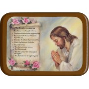 "The Ten Commandments Plaque cm. 21x29- 8 1/2""x 11 1/2"""
