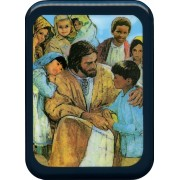 "Jesus with Children Plaque cm. 21x29- 8 1/2""x 11 1/2"""