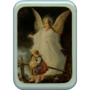"Blue Frame Guardian Angel Plaque cm. 21x29- 8 1/2""x 11 1/2"""