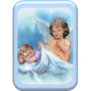 "Blue Frame Guardian Angel Prayer Plaque cm. 21x29- 8 1/2""x 11 1/2"""
