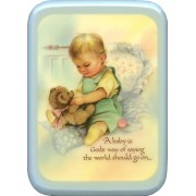 "Blue Frame Baby is God's Way Plaque cm. 21x29- 8 1/2""x 11 1/2"""