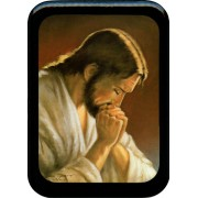 "Jesus Praying Plaque cm. 21x29- 8 1/2""x 11 1/2"""