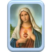 "Immaculate Heart of Mary Plaque cm. 21x29- 8 1/2""x 11 1/2"""