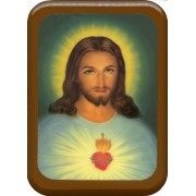 "Sacred Heart of Jesus Plaque cm. 21x29- 8 1/2""x 11 1/2"""