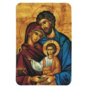 "Icon Holy Family Fridge Magnet cm.4x6 - 2 1/2""x 4 1/4"""