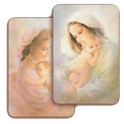 "Mother and Child 3D Bi-Dimensional Cards cm.5.5x8.2- 2 1/8""x 3 1/4"""
