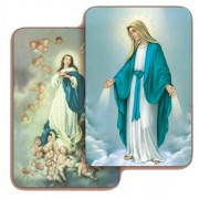 "Immaculate Conception 3D Bi-Dimensional Cards cm.5.5x8.2- 2 1/8""x 3 1/4"""
