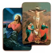 "The Crucifixion/ Jesus 3D Bi-Dimensional Cards cm.5.5x8.2- 2 1/8""x 3 1/4"""