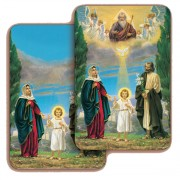 "Holy Family 3D Bi-Dimensional Cards cm.5.5x8.2- 2 1/8""x 3 1/4"""