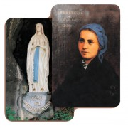 "Our Lady of Lourdes 3D Bi-Dimensional Cards cm.5.5x8.2- 2 1/8""x 3 1/4"""