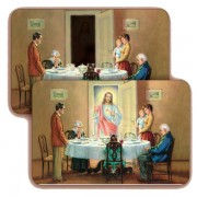 "Jesus in Family 3D Bi-Dimensional Cards cm.5.5x8.2- 2 1/8""x 3 1/4"""